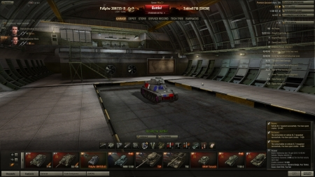 Victory! Battle: Malinovka den 19 april 2012 18:45:46 Vehicle: PzKpfw 38H735 (f) Experience received: 3846 (x2 for the first victory each day) Credits received: 18609 Battle Achievements: Mastery Badge: Ace Tanker, Scout, Steel Wall, Top Gun