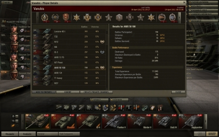 High score in AMX 50 100 on 30/04/12 (9 kills)