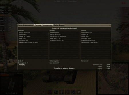 Ran out of APs, so had to shot one gold shell to Tiger (0-critical :), dunno why I even have gold shells with this, probably left from CW.  More info: http://www.wot-replays.org/replay/500034968-desert-03072012170841