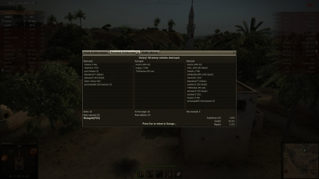 Sand River with M5 Stuart. 7kills, 13detected and 1839exp.