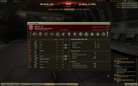 Nice round with the 1948 - alone with a KV5, is3 and a full health Tiger2 that was capping our base