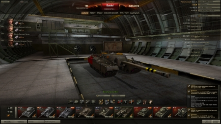 Victory! Battle: Erlenberg den 8 september 2012 10:18:50 Vehicle: T95 Experience received: 4188 (x2 for the first victory each day) Credits received: 89073 Battle Achievements: Steel Wall, Sniper, Mastery Badge: