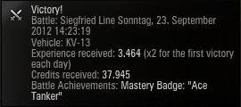 twas a fun match in oddball tank KV-13