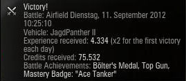 Ace Tanker in JagdpantherII^^