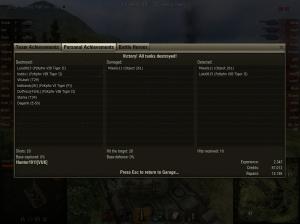 Battle Achievements: Top Gun, Boelter\'s Medal, Sniper