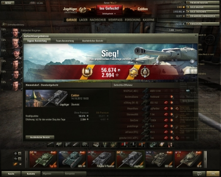 Normally I don't like the Jagdtiger that much, but this time I surely did. Sometimes just made the right decisions, another time it was pure luck (like IS 8 in the end).