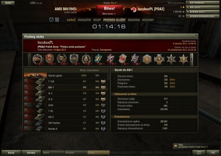 KV with 152mm gun 9 kills:)