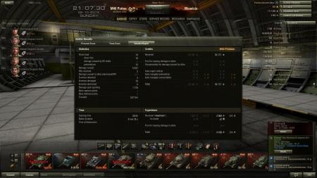 Victory!  Map: Malinovka 28. lokakuuta 2012 20:54:40 Vehicle:: M46 Patton Exp: : 4100 (x2) Credits: : 76177 Achievements: : Confederate, Mastery Badge: