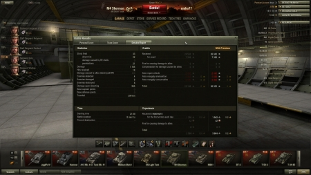 8 kills, Radly Walters, top gun, steel wall I have won an almost lost battle  xp was doubled to 3884