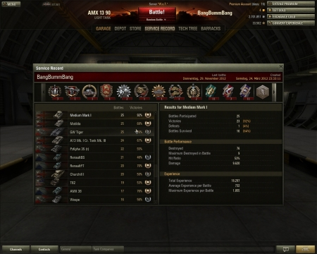 the funny thing: it was my first game with this tank