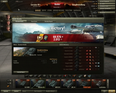 3rd game with lorraine40t: 'ace tanker'