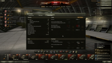 Victory! Battle: Widepark 2012. december 6. 23:29:53 Vehicle: T-34-85 Experience received: 3758 (x2 for the first victory each day) Credits received: 39984 Battle Achievements: Top Gun