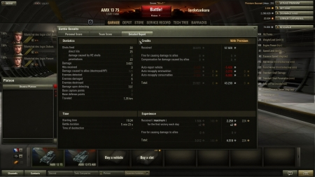 A very lucky battle with amx 13 75. Actually in WOT version 8.2.