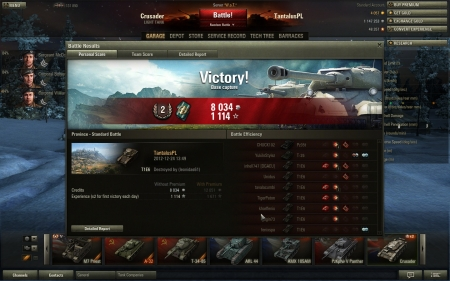 My first game with T1E6. Also, my last game with T1E6, as I just sold him now ;)