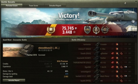 Ace Tanker on PzV-M10