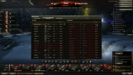 Victory! Battle: Fisherman's Bay den 30 december 2012 18:10:13 Vehicle: T40 Experience received: 9780 (x5 for the first victory each day) Credits received: 30108 Battle Achievements: Top Gun, Sniper