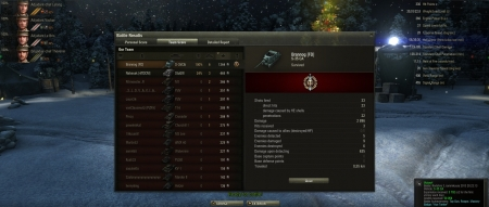 Battle: Redshire 3. tammikuuta 2013 20:22:13  Vehicle: S-35 CA  Experience received:  3792  (x2 for the first victory each day)  Credits received:  50059  Battle Achievements: Top Gun, Reaper, Mastery Badge: