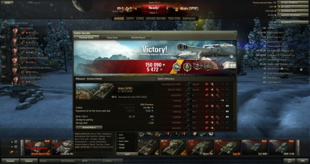 Crucial Contribution, Radley Walters´s Medal, Top Gun, Sniper. 3* KV-5 platoon fun with 14/15 kills :)
