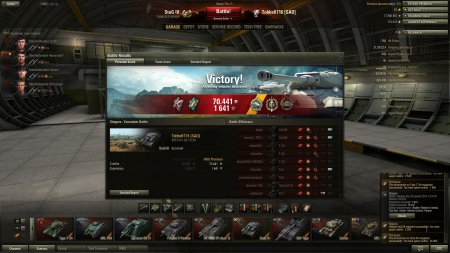 Victory! Battle: Steppes den 20 januari 2013 13:24:41 Vehicle: StuG III Experience received: 1641 Credits received: 70441 Battle Achievements: Radley-Walters's Medal, Top Gun, Sniper, Master Gunner, Reaper