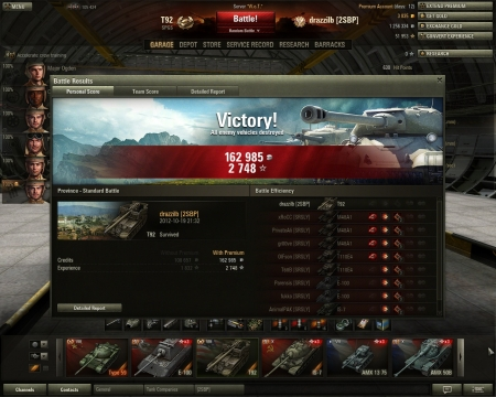 Record on T92 tank