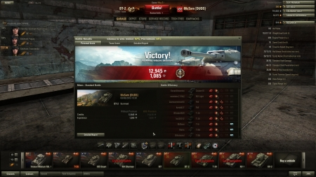 This was an unusually good game, Top Gun is easy nowadays but nice to get a new record kill score :) killed 9, damaged another, 961 total damage plus 4 detections and 145 spotted damage.