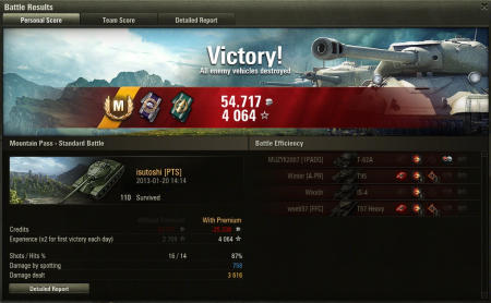 Not super-high damage, but I shot some tier 10's, e.g. more xp per hit.