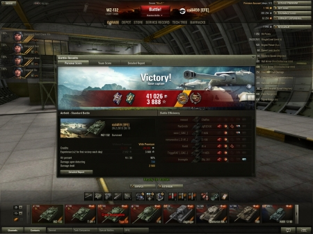 The XP might not be that high but getting 4 critical tier 10 kills with WZ-132 and turning a desperate situation to a cap win 10 secs before running out of time is always epic.