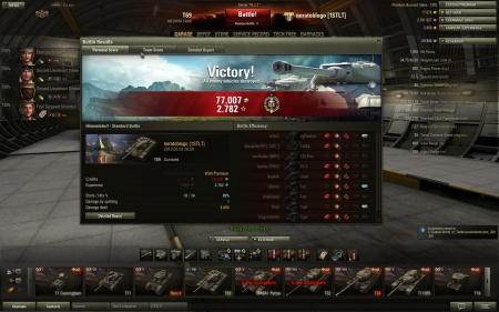 6800 dmg in Himmelsdorf.  I've got addiction to gold ammo in this tank.