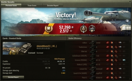 Got Ace Tanker on Cromwell after almost 200 matches on it. About time...