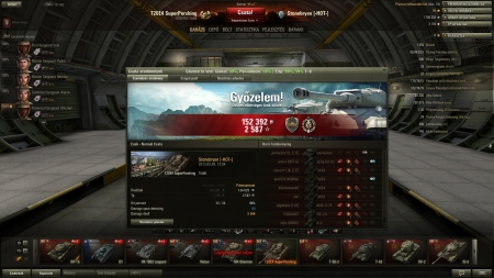 2587 xp with Super Pershing and 152392credit