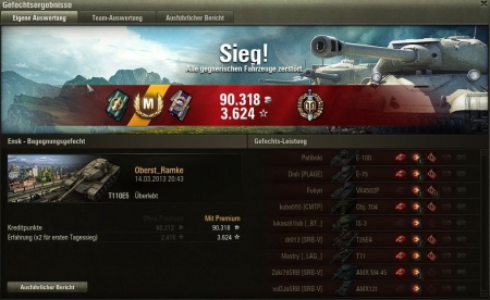 OMG my first Tier X Match ever ;-))