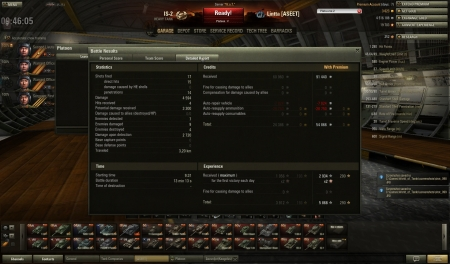 Victory! Map:  El Halluf Date: 15. maaliskuuta 2013 9:31:33 Vehicle: IS-2 Exp: 5 868 (x2) + Credits: 91 440  Achievements: : Pascucci's Medal, Brothers in Arms, Sniper