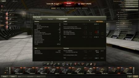 Victory! Map:  Malinovka Date: 2013. március 15. 13:26:13 Vehicle: Cruiser Mk. III Exp: 3684 (x2) + Credits: 23587  Achievements: : Top Gun  1168 damage