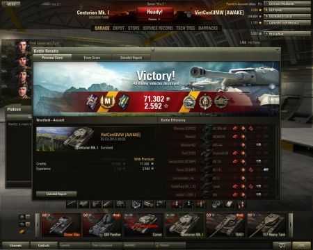 Good game with a bad tank