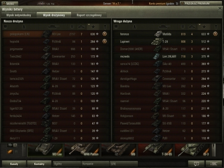 2157 dmg, run out of shells, Matilda was capping, interrupted & died by ramming him ;)