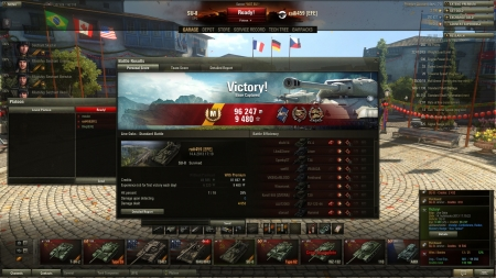 2 year celebration of WoT with unprecedented amount of siemakurwa action - barely won that game after a hiding contest to the cap!
