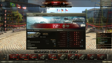 Had a small run between CW matches with KV-2.