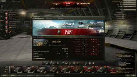 Victory! Battle: Fjords den 16 april 2013 15:58:05 Vehicle: SU-5 Experience received: 2982 (x2 for the first victory each day) Credits received: 45355 Battle Achievements: Master Gunner