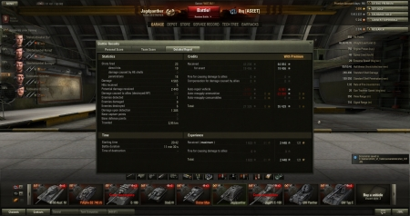 Victory! Battle: Prokhorovka 20. huhtikuuta 2013 20:42:42 Vehicle: Jagdpanther Experience received: 2 448 Credits received: 84 310 Battle Achievements: Top Gun