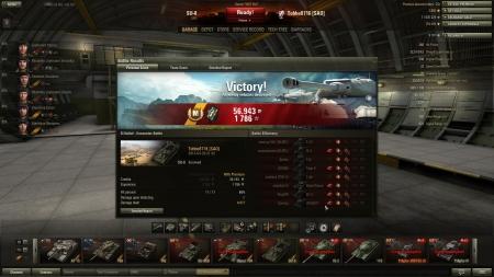 Victory! Battle: El Halluf den 20 april 2013 21:32:15 Vehicle: SU-8 Experience received: 1786 Credits received: 56943 Battle Achievements: Master Gunner, Mastery Badge: