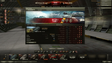 my record with AMX Foch 155 Not my most epic game, but best XP so far