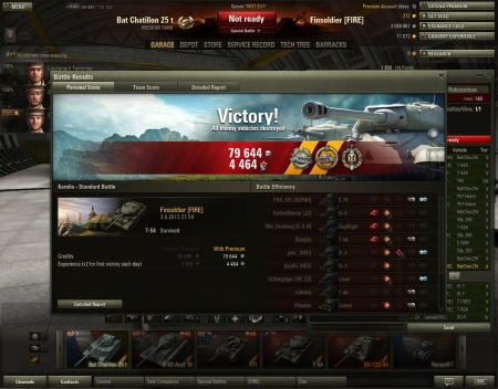 Had a nice save with T-54.