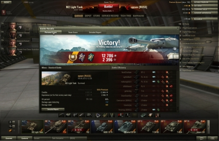 My first game in this: 75% crew, only radio and gun were upgraded<br>