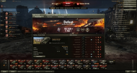 I have a awsome and super frustrated replay of a game in my KV5 with 6.2k dmg done. 10.4k dmg potential received. AND 1783 xp 157k silver on a loss ;(