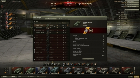 Victory! Battle: Murovanka den 17 juni 2013 16:58:19 Vehicle: WZ-132 Experience received: 5106 (x2 for the first victory each day) Credits received: 68110 Battle Achievements: Pascucci's Medal, Top Gun