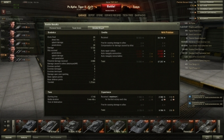 Tiger 2 xp Personal highscore through damage - looks like i missread the scorelist quite a bit