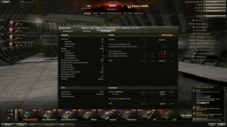 T-43 doing 5k dmg earning 4299 (3049 (base) +1250 (event)) exp