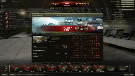 No arty is fun! 12k potential dmg :)  Victory! Battle: Malinovka den 7 juli 2013 22:57:07 Vehicle: IS-4 Experience received: 4 230 (x2)Credits received: 142 059 Battle Achievements: Steel Wall, Top Gun, Cool-Headed