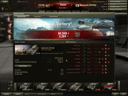 6k Damage in the British Heavy Tank the FV215B, hull down she is very strong, and a lot of people under estimate the FV215B, but do not realise that the FV215B has the highest DPM of any tier 10 Heavy and fires every 7.3 secs, a great tank