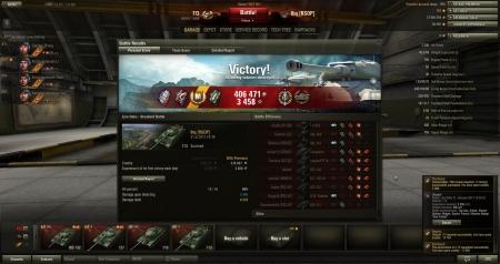 Victory! Battle: Live Oaks 21. elokuuta 2013 18:36:52 Vehicle: 113 Experience received: 3458 (x2) Credits received: 406471 Battle Achievements: Top Gun, Sniper, Master Gunner, Reaper, Expert: France, Mastery Badge: